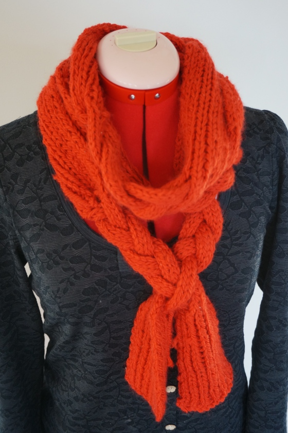 Braided Scarf - Purls and Polkadots